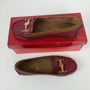 Aerosoles Women's Shoes Color Maroon Leather Balle